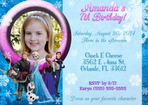 frozen birthday invitations frozen birthday invitation