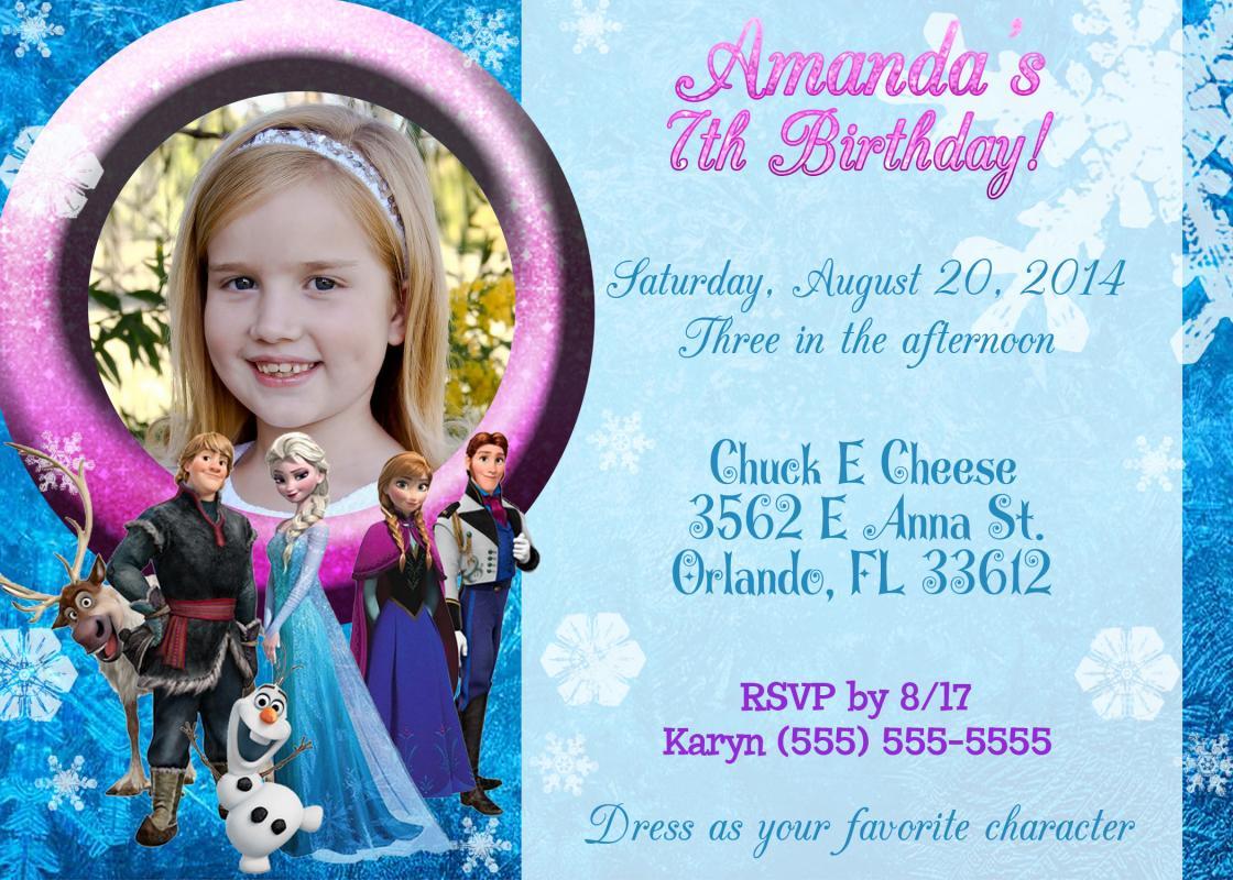 frozen birthday invitations