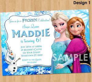 frozen birthday party invitations il xn mcia