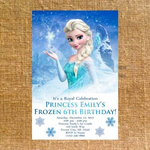 frozen birthday party invitations il fullxfull