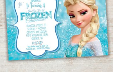 frozen birthday party invitations il fullxfull bwn