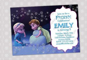 frozen party invitations frozen birthday invitation template for small kids