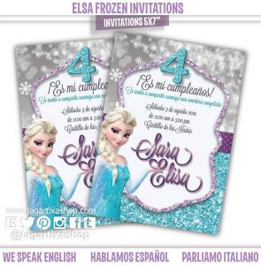 frozen party invitations s p i w
