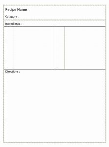 full page recipe template for word blank recipe card freewordtemplates