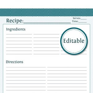 full page recipe template for word full page recipe card templates