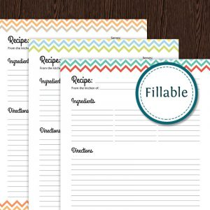 full page recipe template for word il fullxfull lxm
