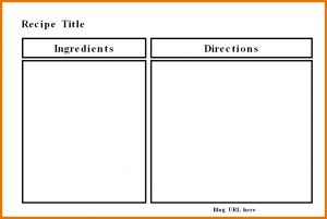 full page recipe template for word recipe template for word template