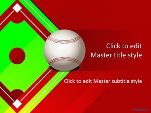 fun powerpoint templates baseball ppt template