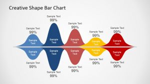 fun powerpoint templates creative shape bar chart x