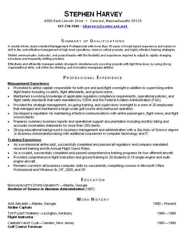 Functional Resume Format | Template Business