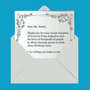 fund raising letter templates envelope