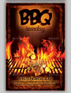 fundraiser flyer ideas bbq flyer template