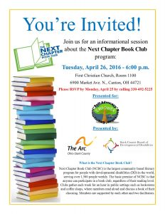 fundraiser flyer ideas next chapter book club meeting flyer
