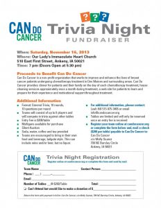 fundraiser flyer template can do cancer trivia night flyer x