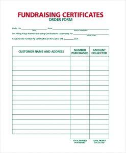 fundraiser order form fundraiser sales order form