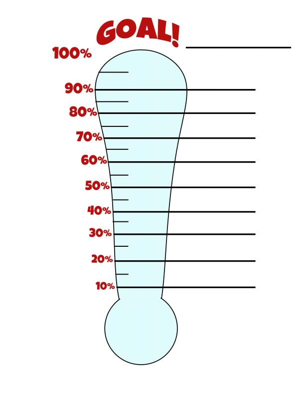 Fundraiser thermometer templates template business for Charity thermometer template
