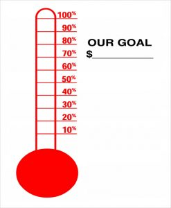 fundraiser thermometer templates sample goal thermometer template