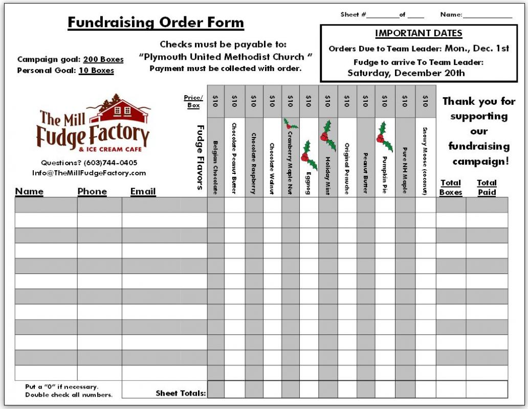 fundraising order form templates template business. Black Bedroom Furniture Sets. Home Design Ideas