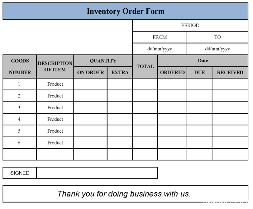 Fundraising Order Form Templates | Template Business