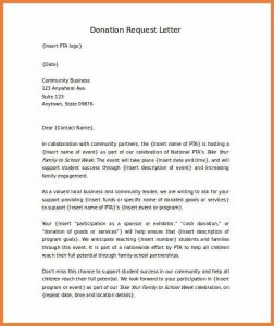 fundraising thank you letter fundraising letter template letter requesting donations for school word format