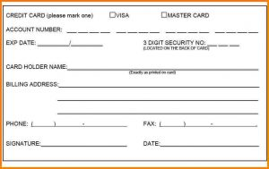 funeral card template credit card authorization form credit card form template