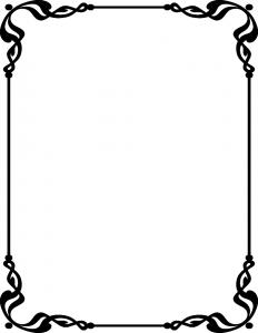 funeral card template showcard border