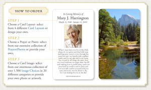 funeral prayer cards how to order prayercards
