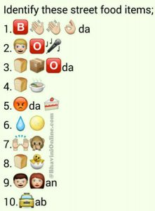 funny emoji copy and paste whatsapp guess street food names from emoticons and smileys