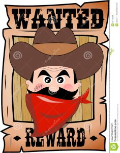 funny wanted posters cartoon wanted poster bandit face d fat cowboy red bandanna hat isolated white background eps file available you