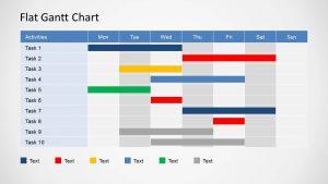 gantt chart powerpoint flat gantt chart