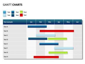 gantt chart powerpoint powerpoint slide gantt chart months rows ssp pl