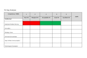 gap analysis example gap analysis template