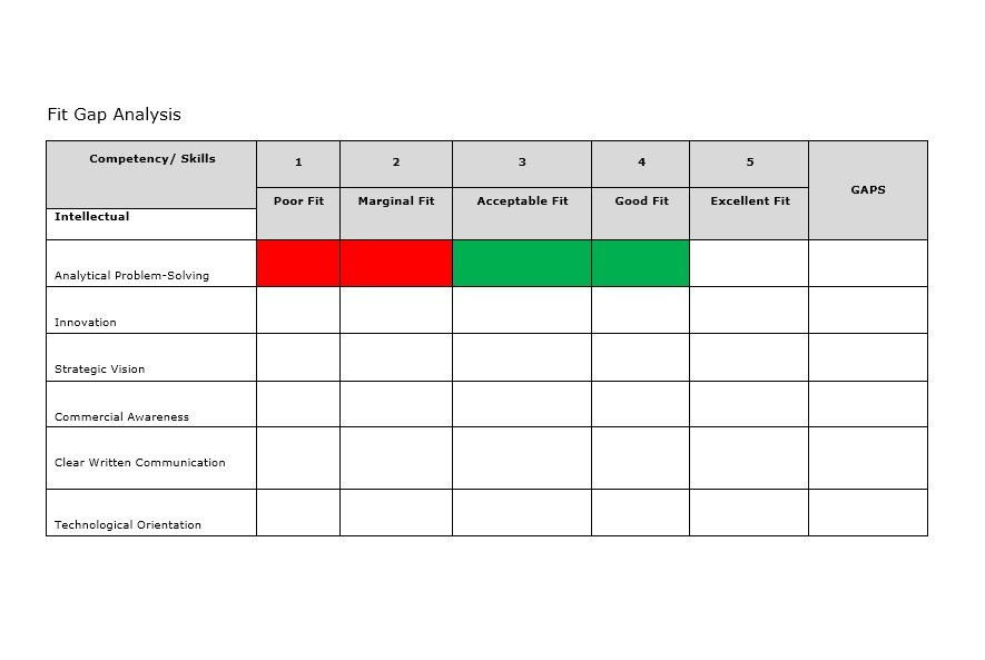 Gap Analysis Example  Template Business