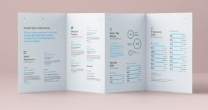 gate fold brochure double gate fold panels brochure brand mockup presentation mockup vol