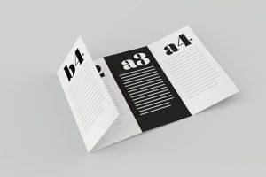 gate fold brochure four pages brochure mockup