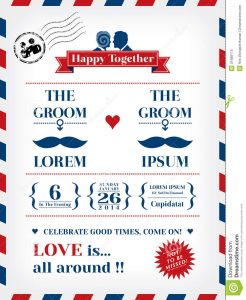 gay wedding invitations gay wedding invitation template postcard air mail style