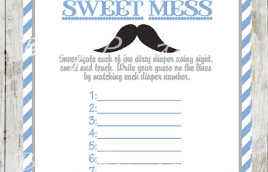 gender reveal invitation template blue grey moustache baby shower games sweet mess
