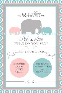 gender reveal invitation template elephant gender reveal scratch off sample