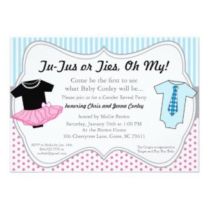 gender reveal invitation template tutus ties gender reveal baby shower invitation rbaffcefcbde zkrqs