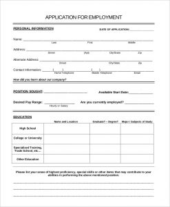 general application for employment general application for job employment