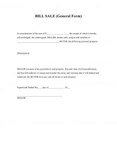 general bill of sale form general bill of sale form 791x1024
