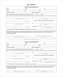 general bill of sale form general bill of sale form for vehicle
