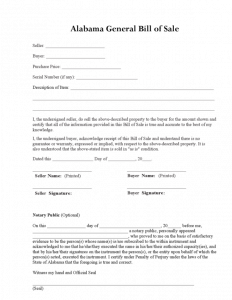 general bill of sale pdf alabama general bill of sale form pdf