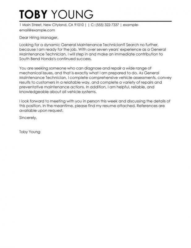 cover letter general format