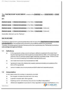 general partnership agreement partnership agreement sample