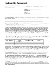 general partnership agreement template partnership agreement sample