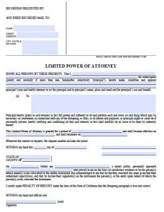 general power of attorney form pdf ca limited poa