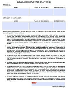general power of attorney form pdf durable general poa arizona