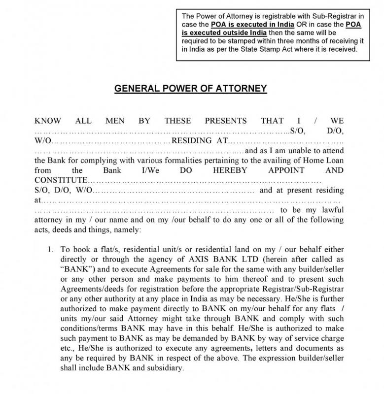 general power of attorney sample