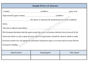 general power of attorney sample sample power of attorney form